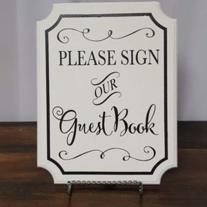 Black & White Guestbook Sign
