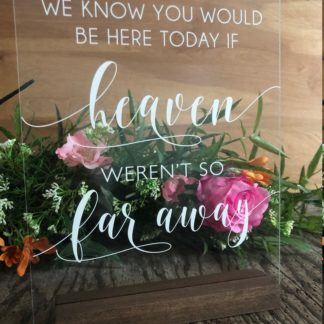 Heaven Acrylic Sign