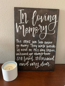 In Loving Memory Wood Sign