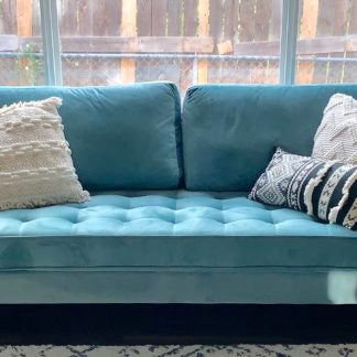 Light Blue Velvet Couch