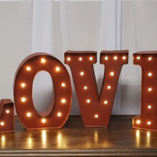 Lighted Red Love Letters