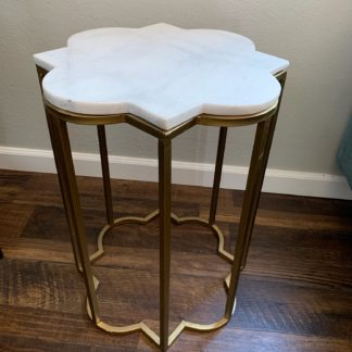 Marble and Gold Side Table
