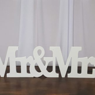 Mr & Mrs Single Piece Sign