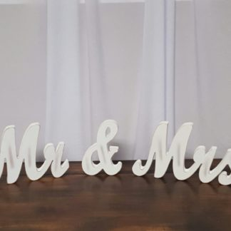 Mr & Mrs White Signs
