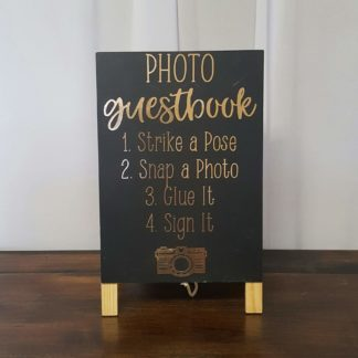 Photo Guestbook Gold Sign