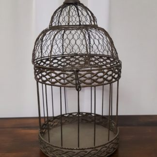 Small Brown Birdcage