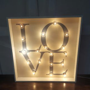Square Lighted Love Sign