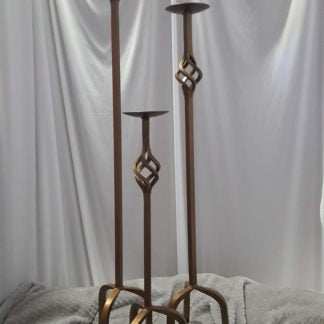 Tall Metal Candleholder Set