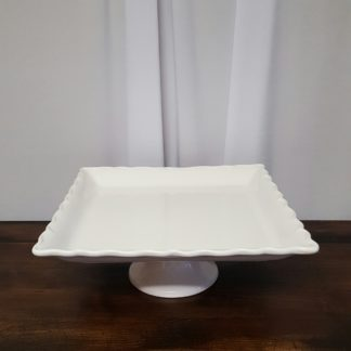 Square Pedestal Serving Plates
