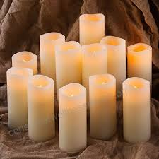 Flameless Pillar Candles - Tall
