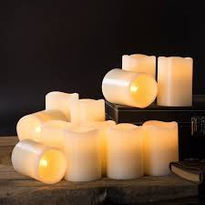 Flameless Pillar Candles - Short