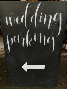 Wedding Parking Sign