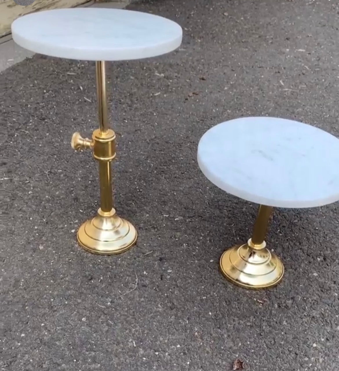 Marble and Gold Stands
