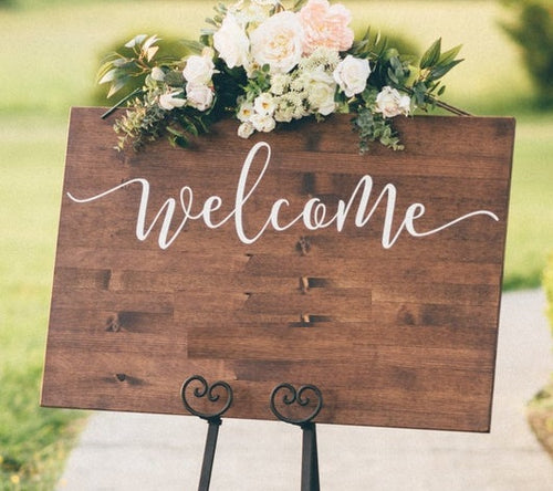 Customizable Welcome Sign
