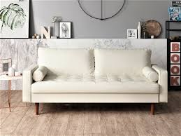 Ivory Leather Couch