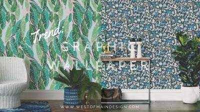 Trend: Graphic Wallpaper Interior Design