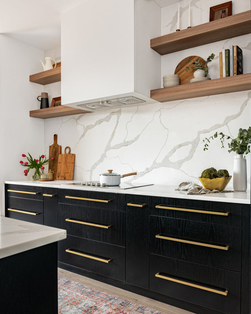 Glenview homes The Blakely Project Black and White Kitchen.