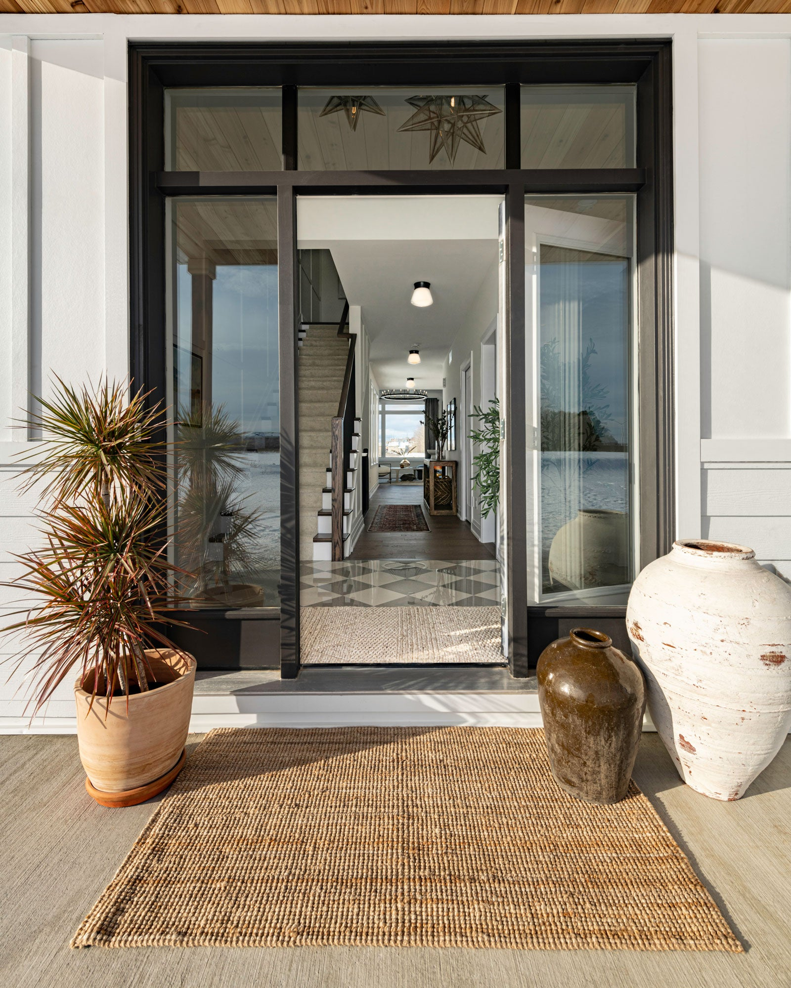 Front door looking into entrance of home