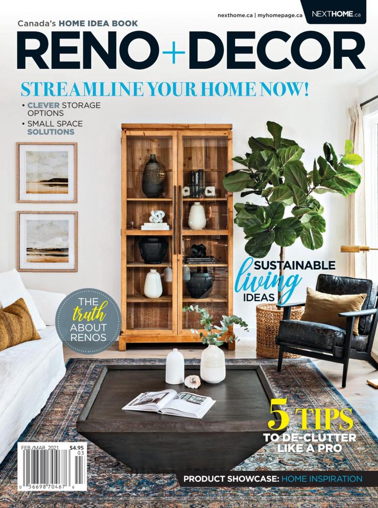 West of main on the cover of reno & decor magazine.