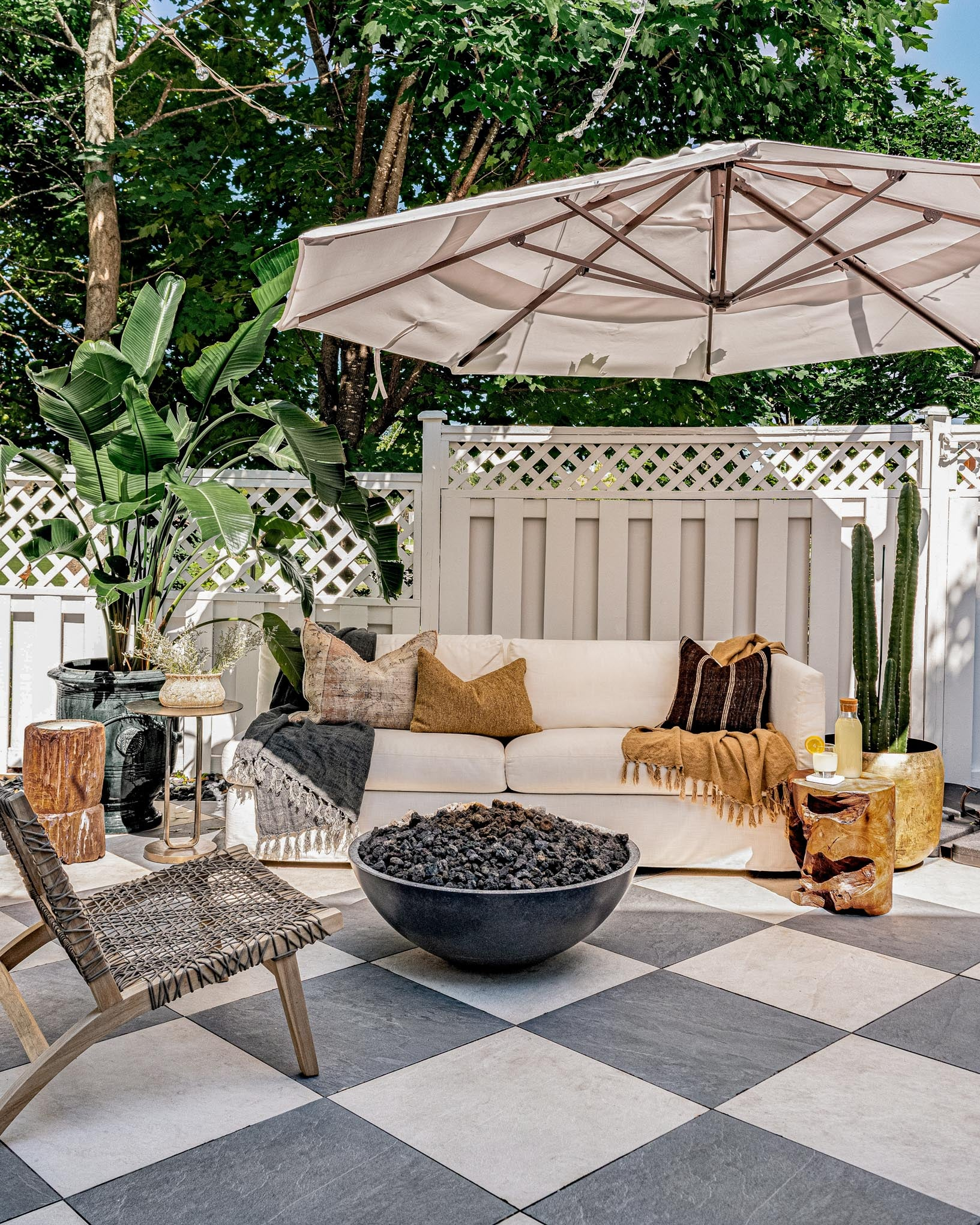 Ottawa Interior Design firm, West of Main, reveals beautiful urban backyard transformation, outdoor seating area.