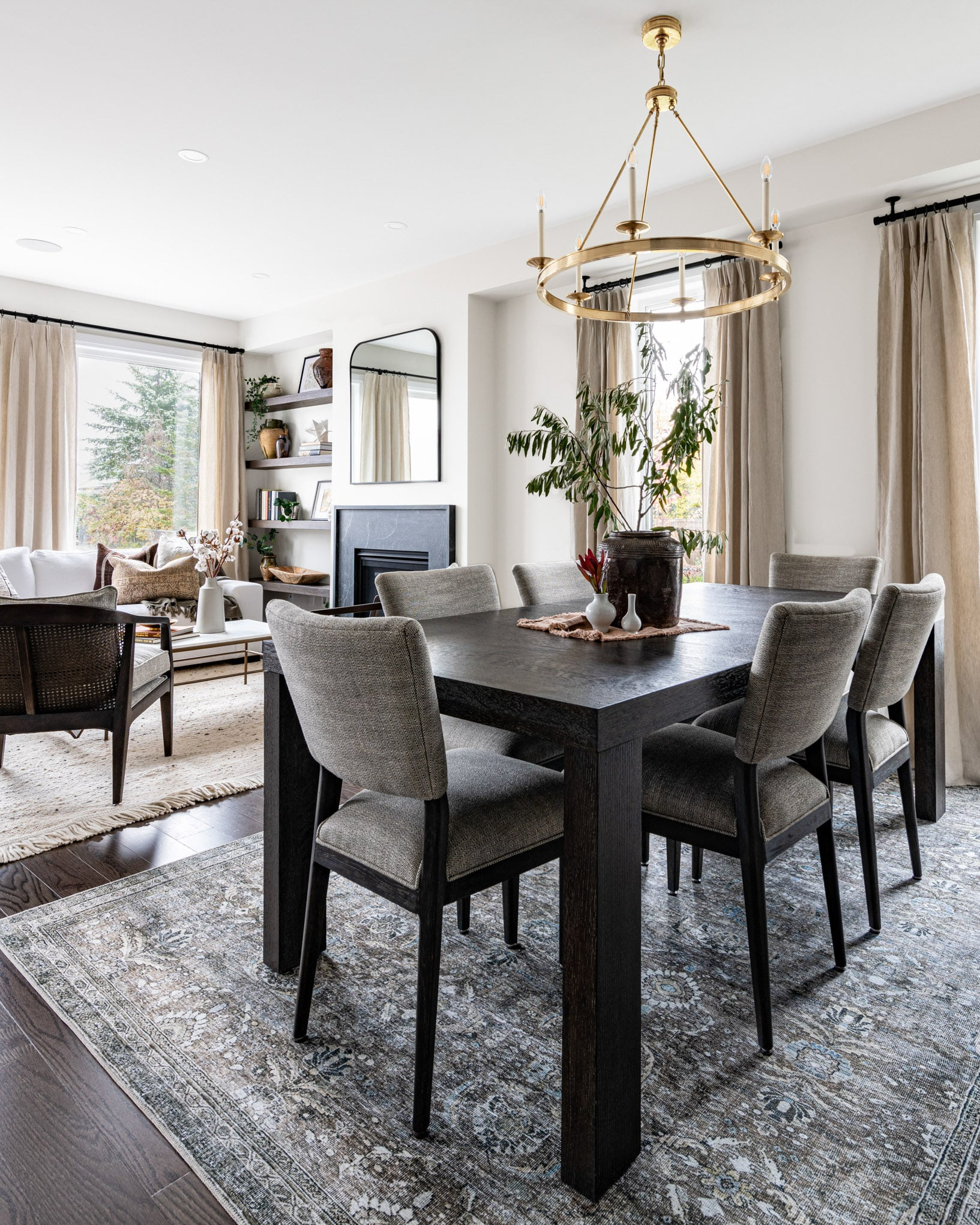 dining room with rug