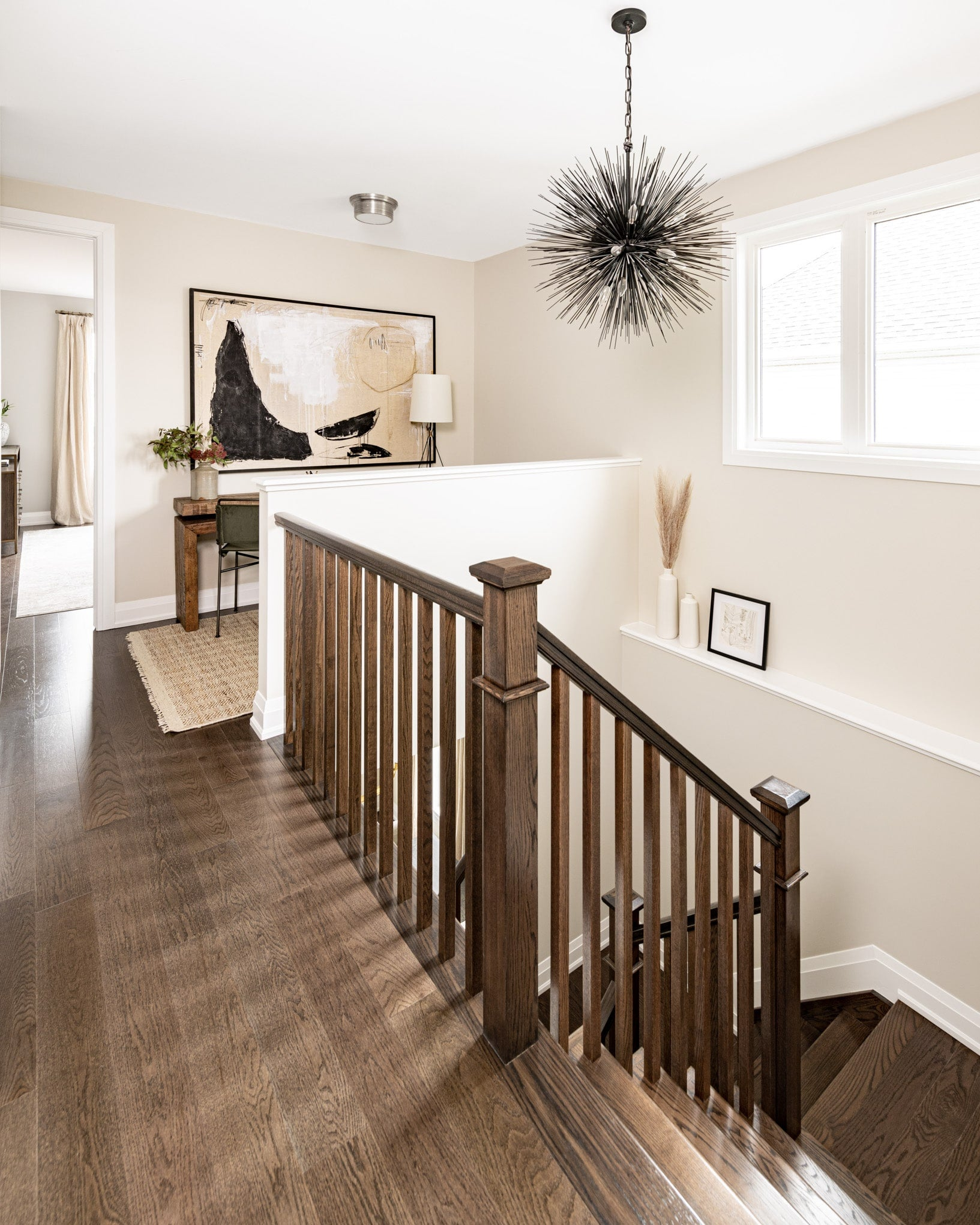 full interior design hallway with stairs
