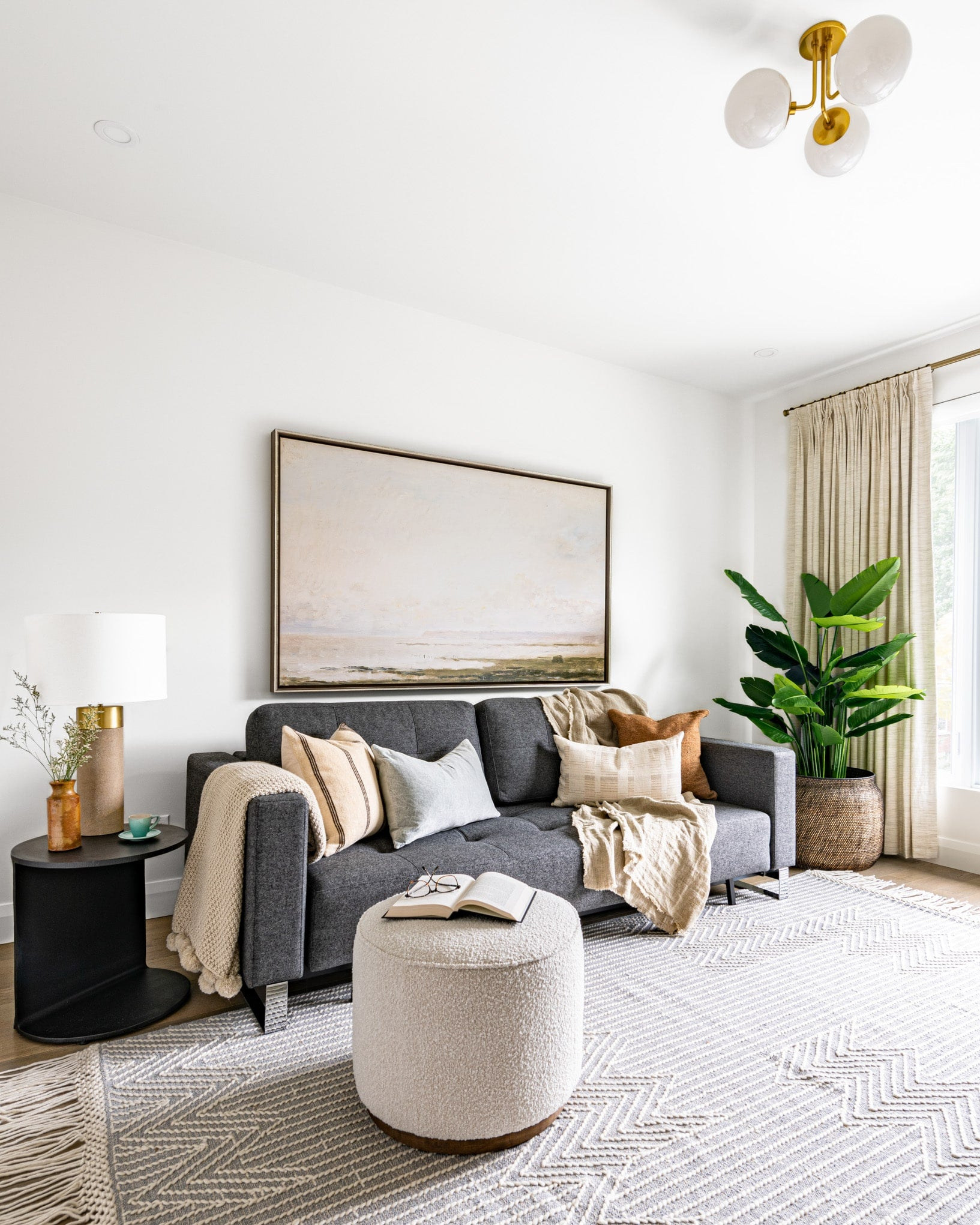 living room couch rug interior design