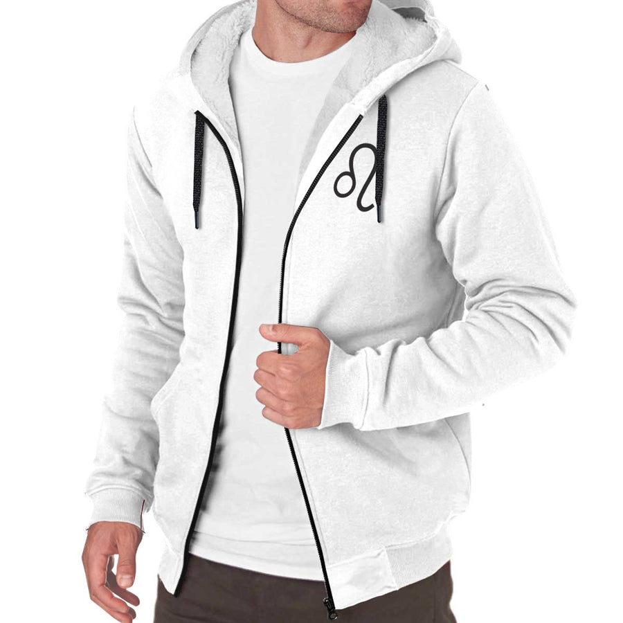 Zodiac Sign Sherpa-lined Zip-up Hoodie - House of the Twelve