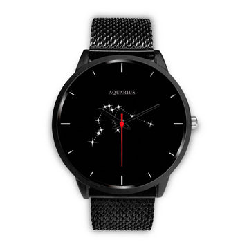 Zodiac Constellation Black Metal Watch - House of the Twelve