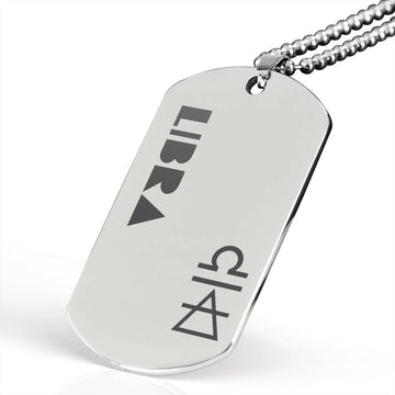 LIBRA Stainless Steel Military Dog Tag Necklace - House of the Twelve