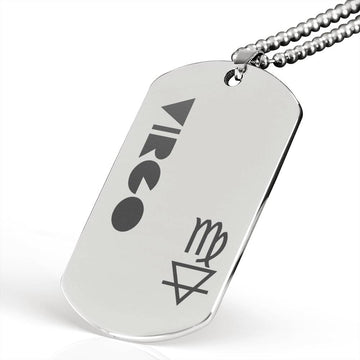 VIRGO Stainless Steel Military Dog Tag Necklace - House of the Twelve