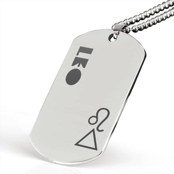 LEO Stainless Steel Military Dog Tag Necklace - House of the Twelve