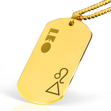 LEO 18k Gold Plated Military Dog Tag Necklace - House of the Twelve