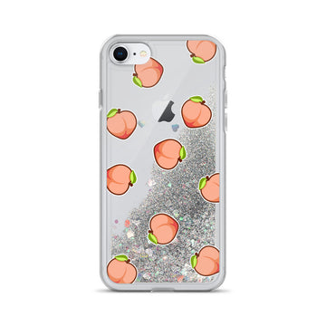 Peach Liquid Glitter Phone Case - House of the Twelve