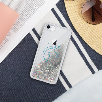 Blue Unicorn Liquid Glitter Phone Case - House of the Twelve
