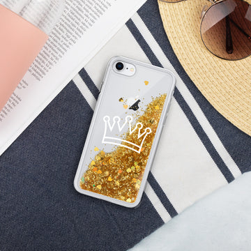 Gold Crown Liquid Glitter Phone Case - House of the Twelve