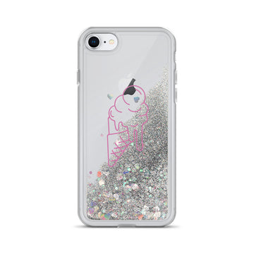 Pink Ice Cream Liquid Glitter Phone Case - House of the Twelve