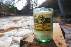 Topo Chico and Lime Candle