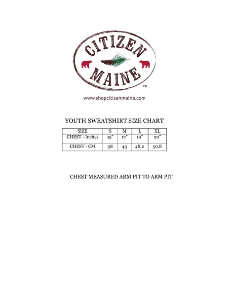 Youth Maine Cabin Sweatshirts by Citizen Maine