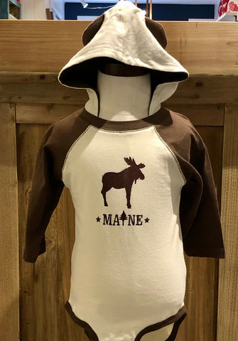 hooded moose onesie