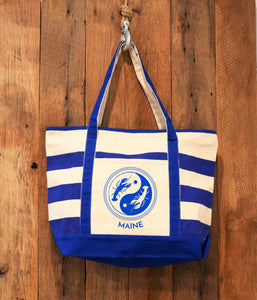 royal blue lobster beach bag
