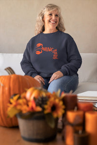 navy lobster Maine sweatshirt