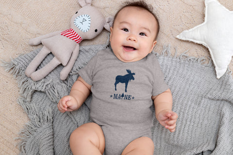 Maine 2 Star Moose Onesie