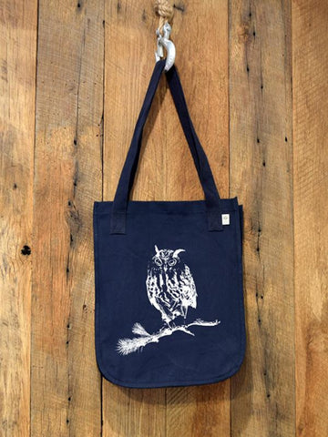 organic eco friendly owl tote bag