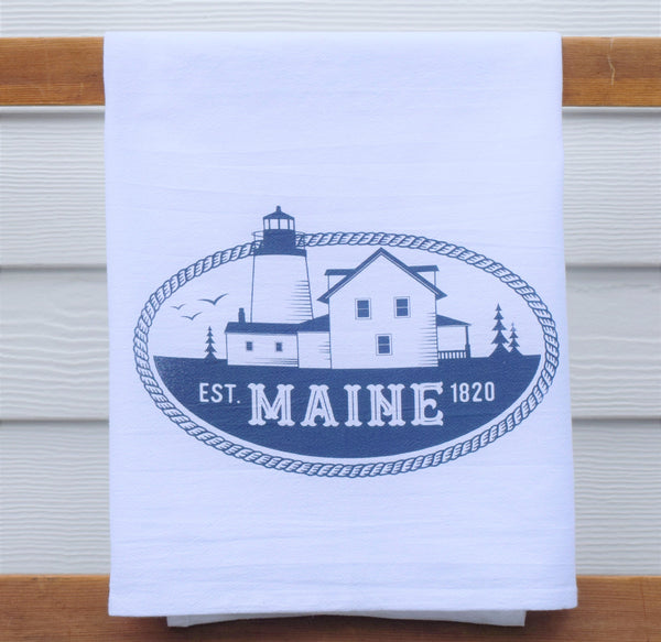 Pemaquid Lighthouse tea towel