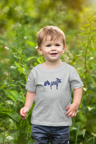 Maine toddler moose grey tshirt
