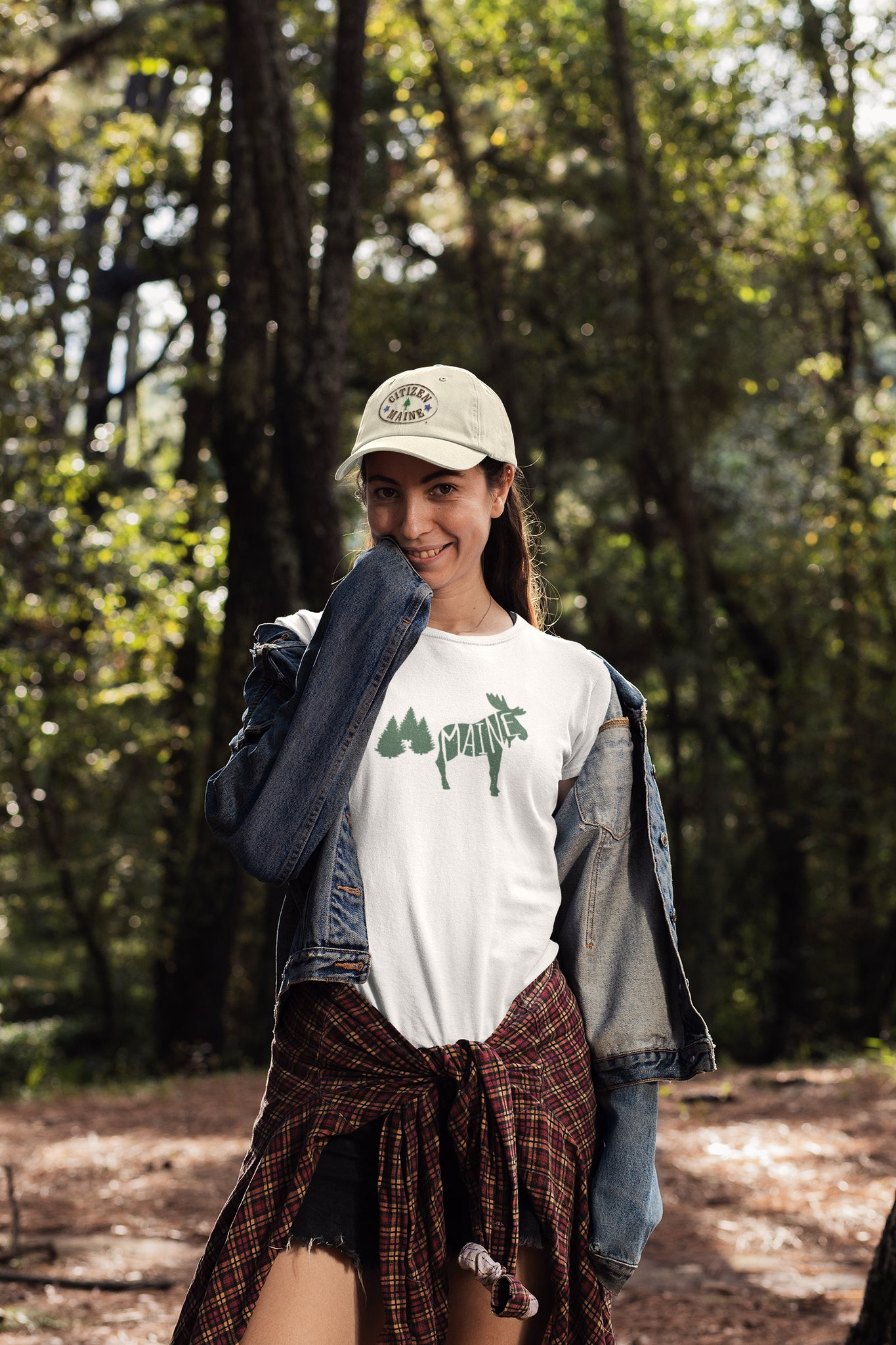 White Maine Moose Tee