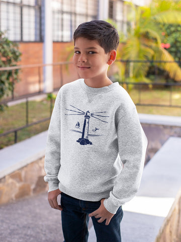 youth ash lighthouse sweatshirt