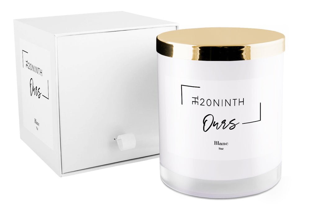 The20Ninth Ours Candle - Blanc