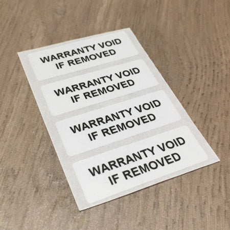 Warranty Sticker Sample Pack